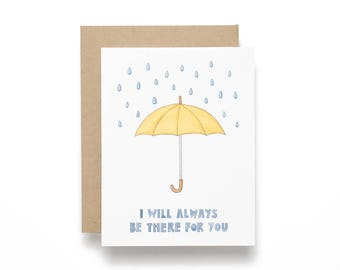 I Will Always Be There For You - Umbrella - Card