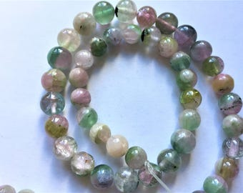 "SALE 16"" Stunning Multi-color 260ct  Rare Afghan Gem Grade Round Tourmaline Beads Strand"