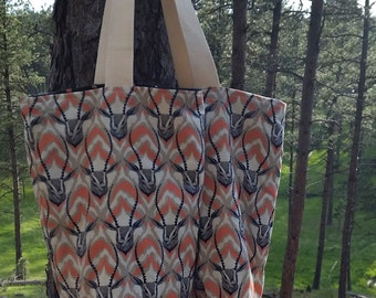 Medium Fabric Tote - Reversible