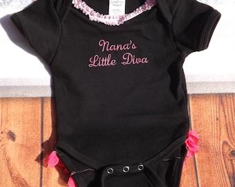 Little black Onesie  nana onesie