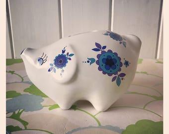 Retro 70's Piggy Bank bu Arthur Wood 5648