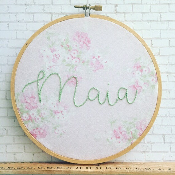 Personalized embroidery hand embroidered name by