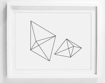 Printable Minimalist Art, Modern Downloadable Artwork, Large Modern Prints, 16x20 Art Prints, 20x24 Wall Print, Minimalist Wall Decor Design