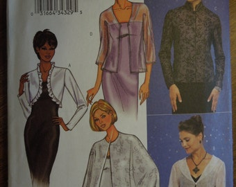 Butterick 3345, sizes 6-10, misses, womens, jacket and cape, UNCUT sewing pattern, craft supplies