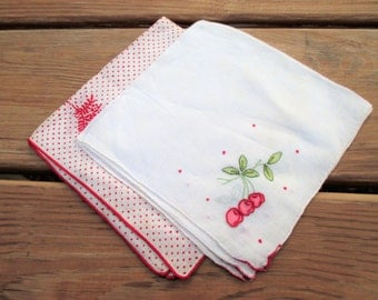 Two Vintage Handkerchiefs