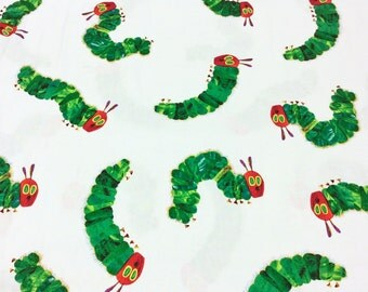 The Very Hungry Caterpillar Encore by Eric Carle for Andover Fabrics for Makower UK 5281/M Caterpillar Walk