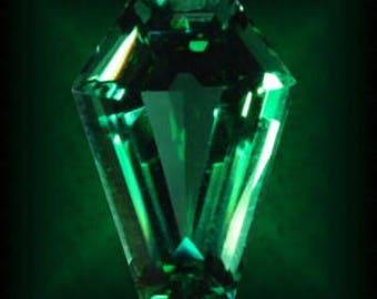 3 Carat Coffin Gem - Emerald Green
