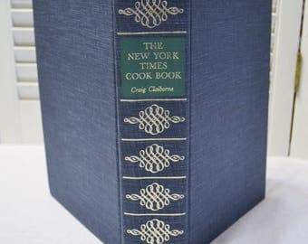 New York Times Cookbook Craig Claiborne 1961 Recipes Collectible Vintage Book PanchosPorch