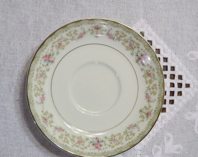 Vintage Noritake Edgewood Saucer 5807 Floral and Scroll Replacement Made in Japan PanchosPorch