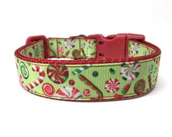 Christmas Candy Dog Collar Adjustable