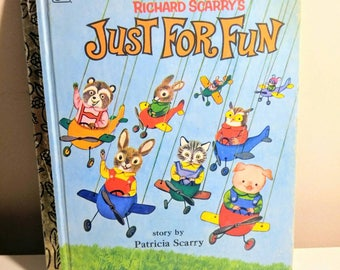 Richard Scarry's Just For Fun Little Golden book vintage Richard Scarry