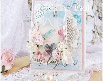 "Handmade "" Happy Birthday "" card"