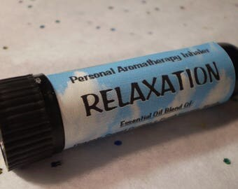 Relaxation Personal Aromatherapy Nasal Inhaler - Natural Remedies - Essential Oil - Holistic