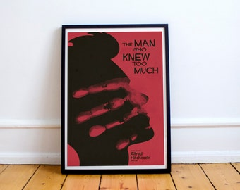 The Man who Knew Too Much, Alfred Hitchcock, fine art, giclee, movie poster, classic film, old movie