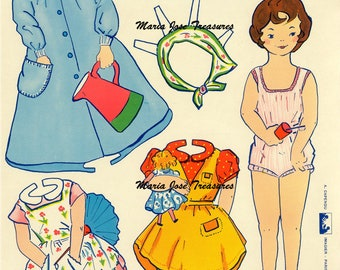 Vintage French Paper Dolls Veronique - Digital Download