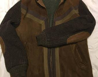 1960s men's suede sweater jacket