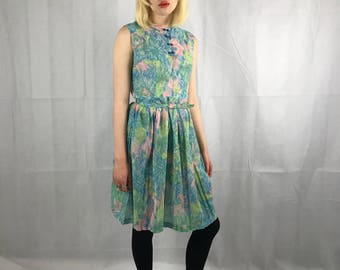 1960's Floral Day Dress
