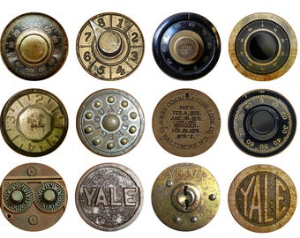 Antique Safe Dials Cabinet Dresser Desk Drawer Knobs Pulls
