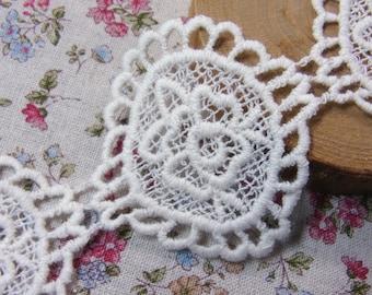 Cameo Motive lace Crochet Cotton Lovely Lace 1yard  #dl