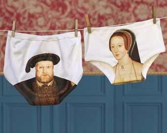 Funny Henry VIII and Anne Boleyn Underwear Gift Set for Couples