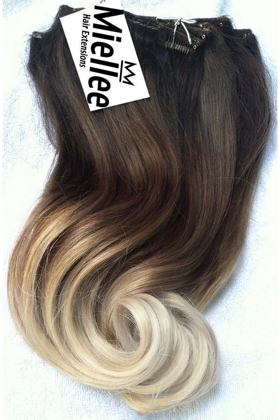 high contrast neutral ombre clip in extensions silky. Black Bedroom Furniture Sets. Home Design Ideas