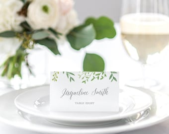BOTANICAL Printable Place Cards Editable Template - Instant Download