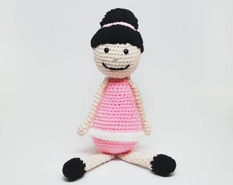 Crochet Ballerina Doll, Ballerina Doll, Stuffed Doll, Dancer Doll, Kid's Doll, Toy Doll, Stuffed Toy, Knit Doll, Hand Knit Ballerina Doll