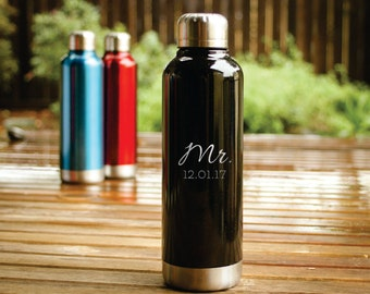 Monogrammed Water Bottle, Personalized Flask Alternative, Custom Water Bottle, Personalized Water Bottle, Engraved Water Bottle