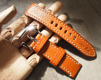 24mm Panerai Leather Strap (Made by hand)