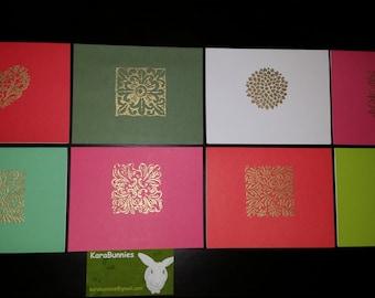 KaraBunnies Gold Embossed Cards 1