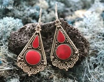 Handmade Ethnic Tibetan Earrings