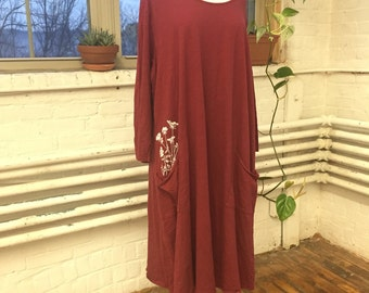 FINAL SALE! Queen Anne's Lace Dress in Maroon