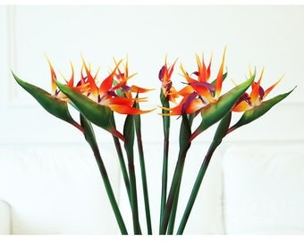 Bird of paradise  flower tropic flower summer flowers silk flower artificial flower 5pcs