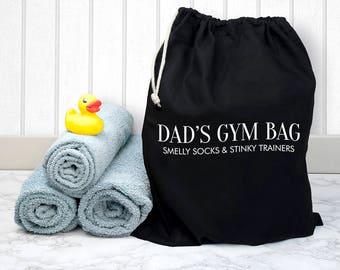 Personalised Cotton Black Gym Bag - Duffle Bag - Men's Gym Bag - Workout Bag - Gym Tote - Gym Tank - Yoga Bag - FREE UK DELIVERY
