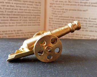 Vintage Miniature Curio Brass Canon