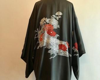 Vintage 70s Silk Kimono