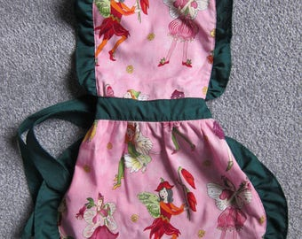 Kids Apron, Child Apron, Girls Play Apron, Apron with Fairies, Little Girl Gifts, Girls Party Apron, Apron for Children, Child Apron