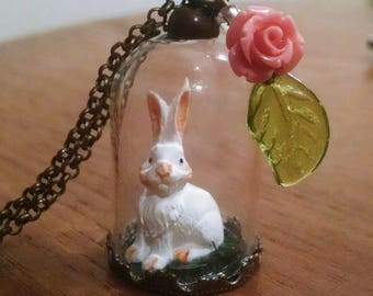 Easter Bunny Terrarium Necklace