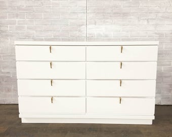 AVAILABLE: White Modern Painted Dresser