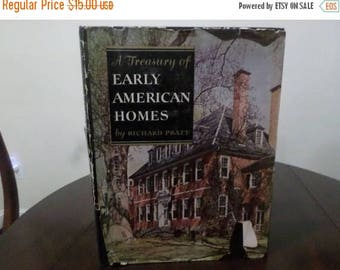 Save 25% Now Vintage 1949 Hardcover Book A Treasury of Early American Homes Richard Pratt w/Original Dust Jacket