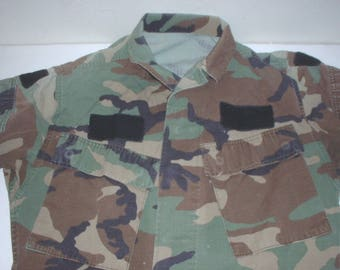 US Army woodland BDU coat, small-short Special Operations modified