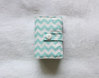 SMALL Quad Scripture Cover in Blue, Hot Pink, Lime Green, Gray, Black, Aqua Chevron - other colors available upon request