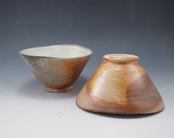 Two Soda Fired Bowls