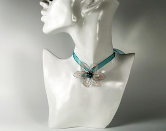 Pendants, turquoise/pink, delicate jewelry, Valentine's day gift