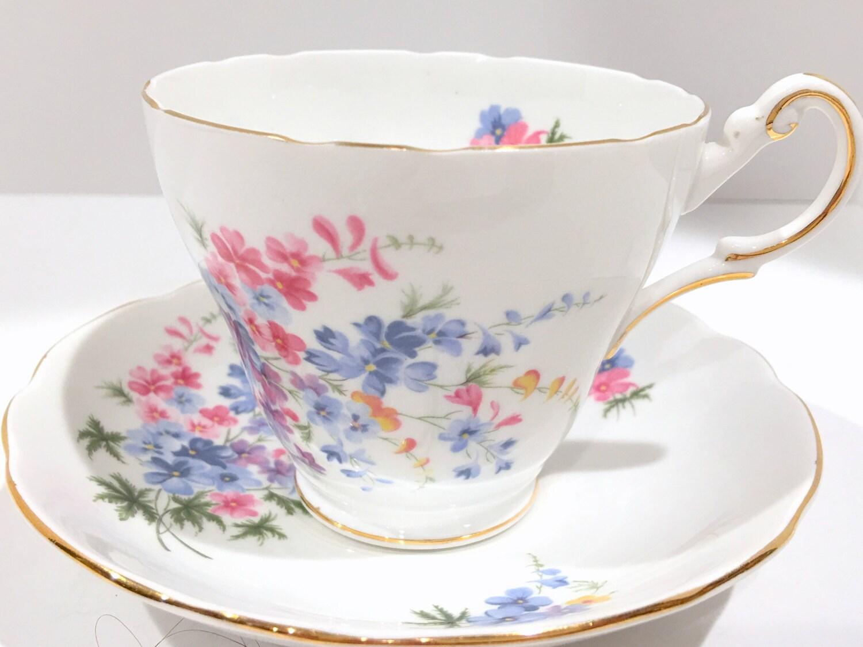 regency tea cup and saucer english bone china antique. Black Bedroom Furniture Sets. Home Design Ideas