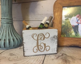Wedding Guestbook Pen Holder, Pen Holder, Rustic Wedding, Wooden Pen Holder, Wedding Pen Holder,