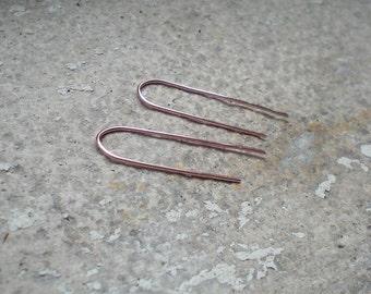 Rose gold earrings, minimal lightweight earrings