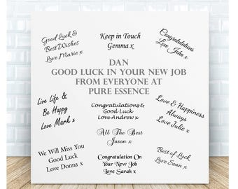Your New Job Guestbook Personalised Ceramic Plaque