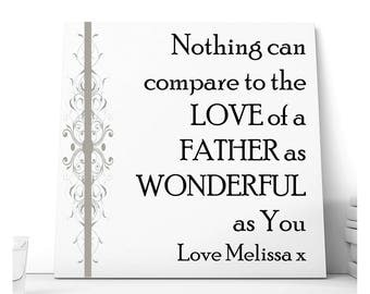 Dad Personalised Ceramic Plaque - Father's Love