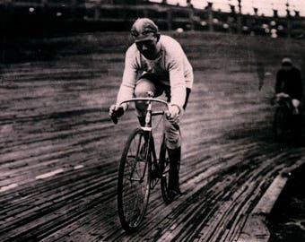 Bicycle Race, Vintage REPRO Greeting Card NCC109666